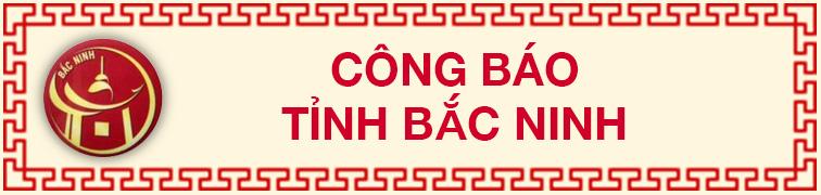 Công báo tỉnh Bắc Ninh